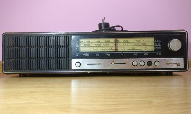 Sprawne stare radio UNITRA Diora z kablem PRL antyk zabytek