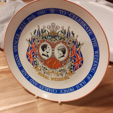 Talerz kolekcjonerski ślub Księżna Diana i Książę Karol Wedgwood