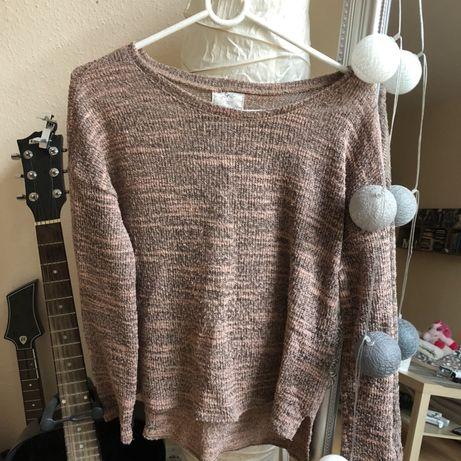 Różowy sweterek długi rękaw sezon jesień/zima