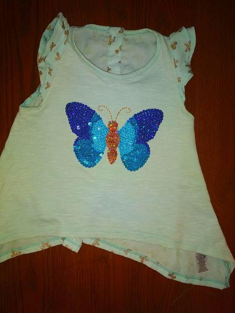 блузка, туника фирмы georgе, с пайетками, девочке от 1,5-4 лет