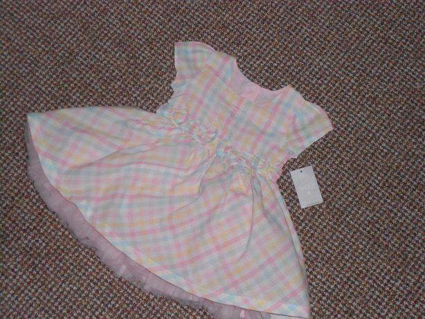 Нарядное платье на малышку 3-6 месяцев. 100% хлопок