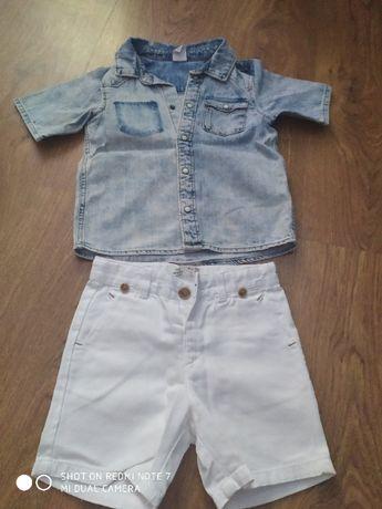 Koszula h&m spodenki Zara rozmiar 86