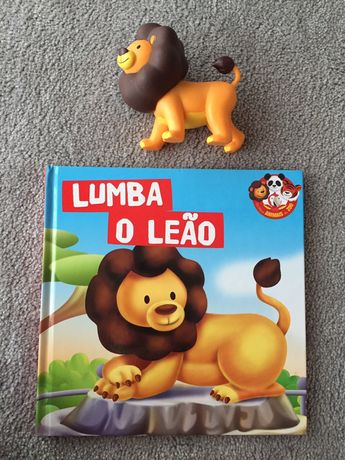 Livro animais - Lumba o Leão c/ oferta de animal