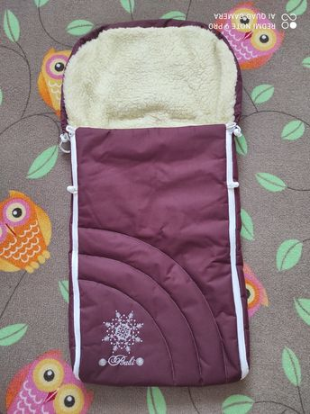 Зимний чехол в коляску конверт
