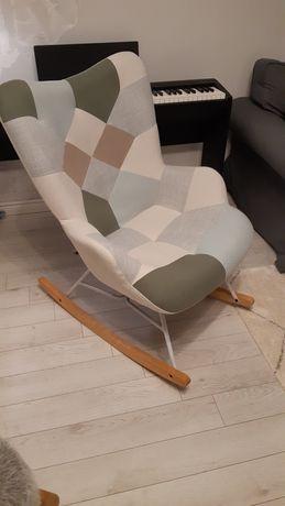 Fotel bujany nowoczesny patchwork piękny NOWY!