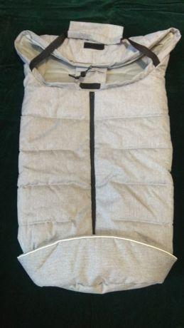Спальник детской коляски, (распродажа) новый, светло-серый