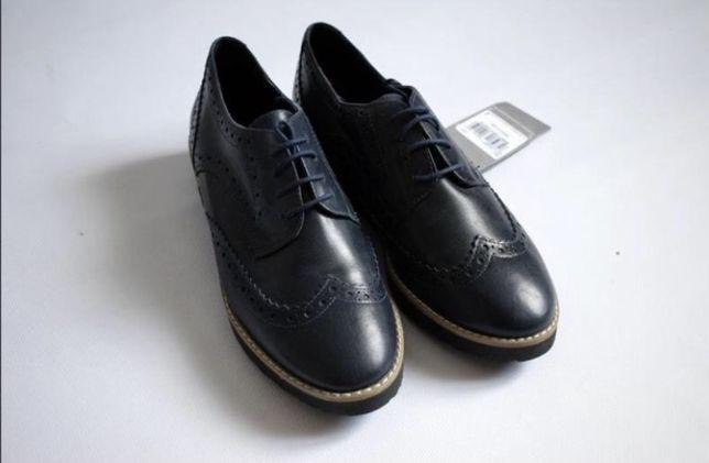 Кожаные туфли, оксфорды, лоферы 38р