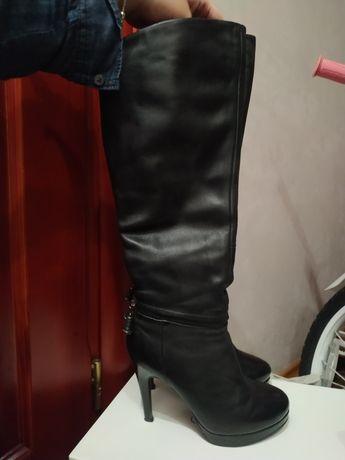 Чоботи шкіряні зимові ,чобітки , зимние сапожки