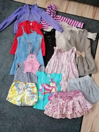 Ubranka dla dziewczynki 5-6 lat rozm. 110- 118