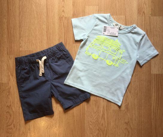 Летний костюм, футболка и шорты для мальчика H&M, р. 92-98