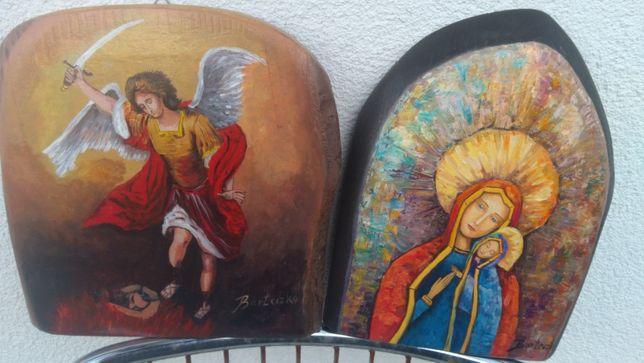 Ikona ,,Madonna z Dzieciatkiem'' malowana nowy J.Barteczko.