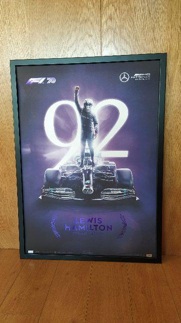 Poster Lewis Hamilton Formula 1 edição limitada e ultra rara