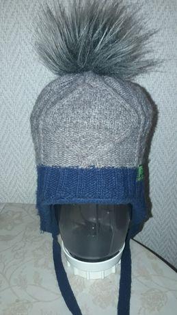 Зимняя шапка Craft  р.48-50 на 3-5 лет  с удлинненной шеей и ушками