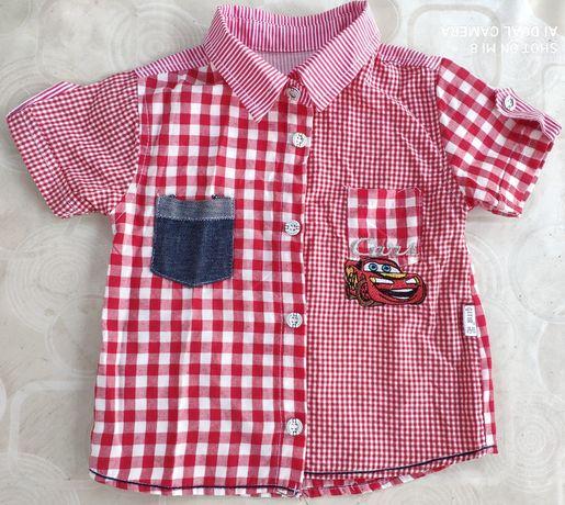 Летняя рубашка и шорты джинсовые на мальчика