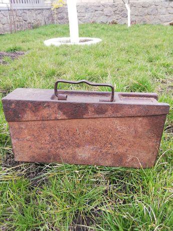 Немецкий ящик для пулеметных лент ретро раритет ящик старинный
