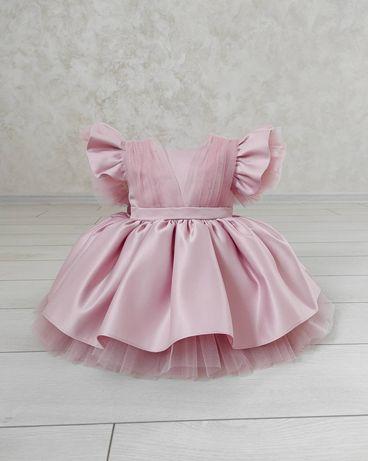 Шикарное нарядное детское фатиновое платье на годик на утренник,сукня