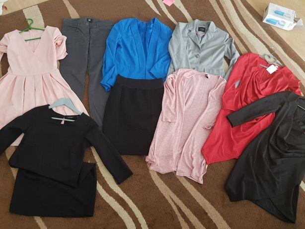 Zestaw ubrań do pracy do biura S nowe sukienka żakiet spodnie