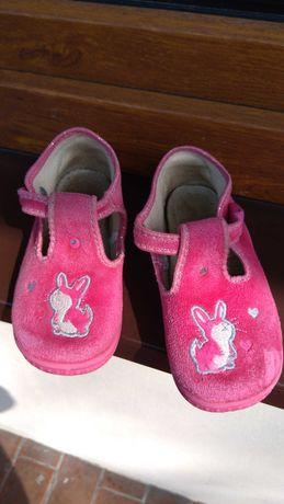 Buty 25, z królikiem, różowe
