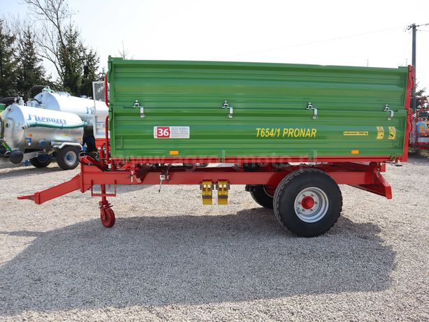 Przyczepa jednoosiowa Pronar T654/1 transport do klienta
