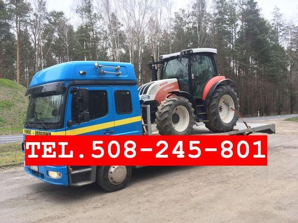 AUTOLAWETA Transport Ciągników Maszyn Rolniczych Bel BUSÓW Aut LAWETA