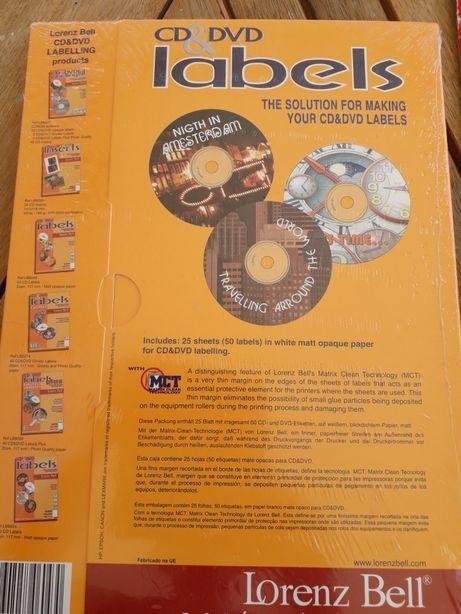 Labels para CD e DVD
