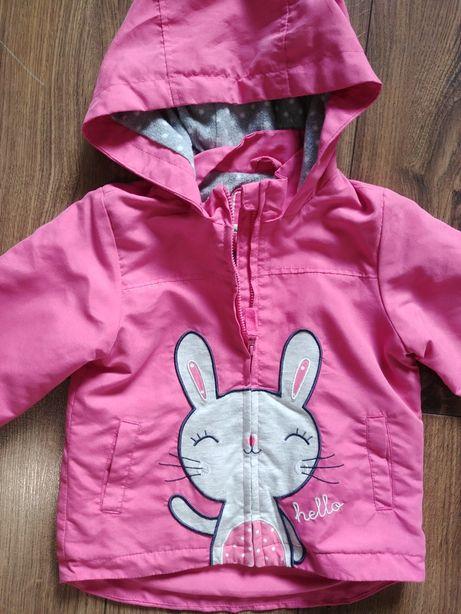 smyk cool club 92 wiosenna kurteczka rózowa królik