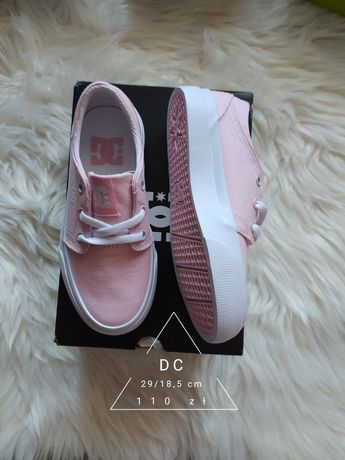 Nowe różowe trampki DC Conversy 29/18,5 cm