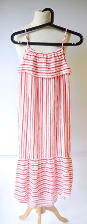 Sukienka Paski Long H&M 158 164 cm 12 14 lat Marynarska Zara C&A