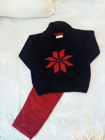 Conjunto de menino: calças e camisola - 3 anos