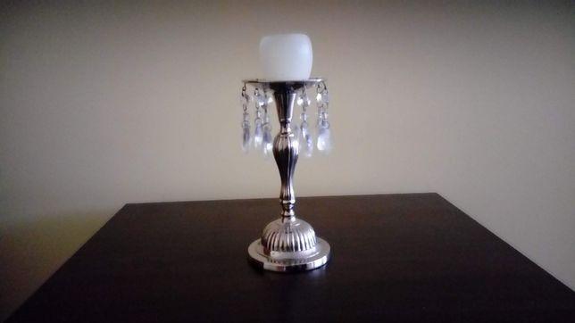 świecznik metalowy