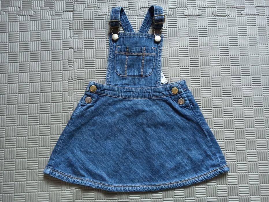 Next dżinsowa spódnica sukienka 12-18 86 na szelkach szelki Rzeszów - image 1