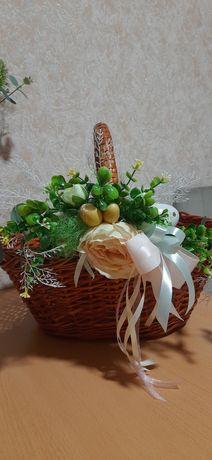 Пасхальный декор на корзину