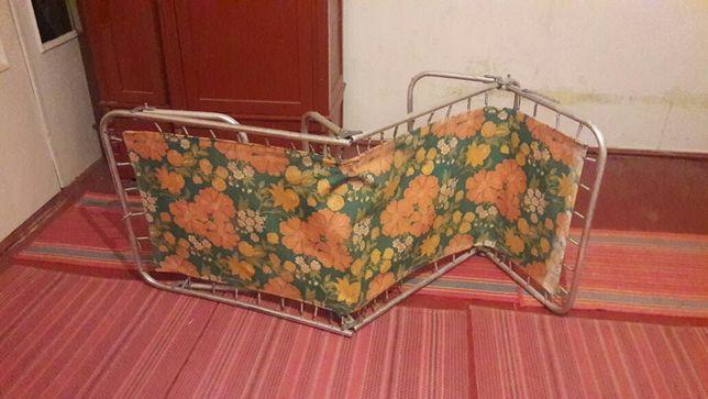 Раскладушка алюминиевая СССР , розкладушка, кровать.
