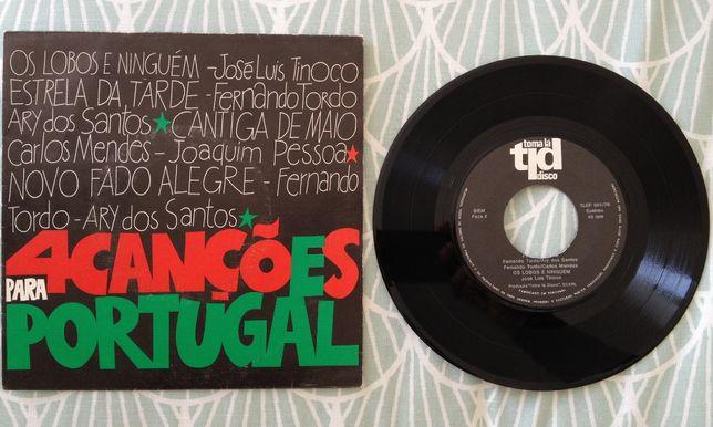 """Disco Vinil """"4 Canções Para Portugal"""""""
