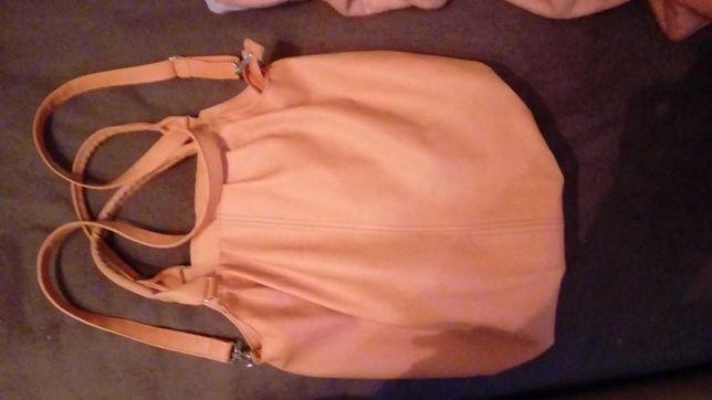 Torebka torba pomarańczowa duża z paskiem