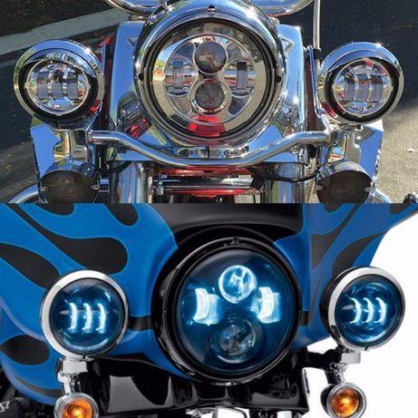 """Противотуманные фары 2шт 4.5"""" LED 30 WT хром Harley-Davidson"""