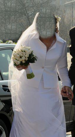 żakiet ślubny atłasowy