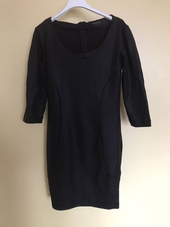 Czarna sukienka mini mała czarna S 36 Reserved