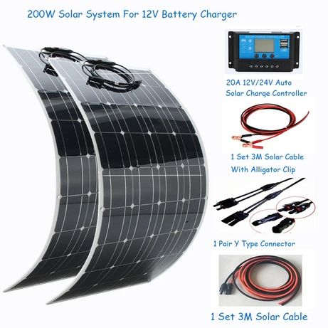 Solar turystyczny przenośny bateria słoneczna kamper przyczepa 200 W