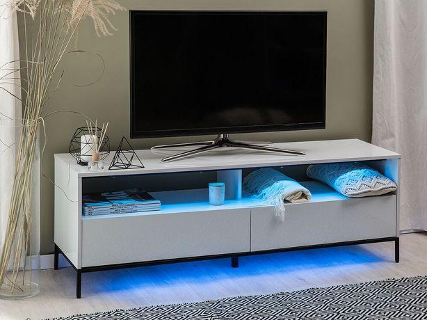 Móvel de TV branco com iluminação LED SYDNEY - Beliani