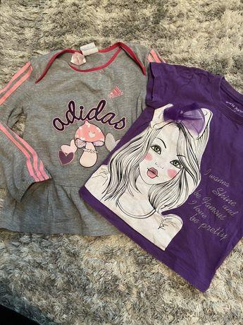 Лот детская кофта и футболка