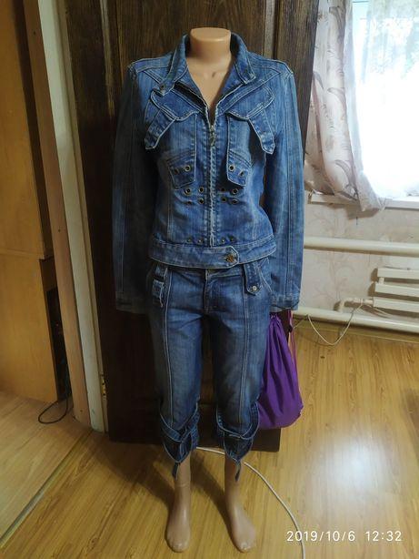 Джинсовая куртка + бриджи