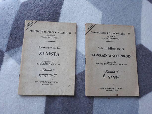 Przewodnik po lekturach Zemsta Fredro Konrad Wallenrod
