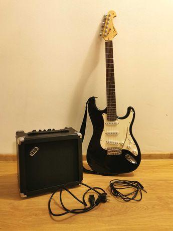 Gitara elektryczna Tenson California Series W ZESTAWIE