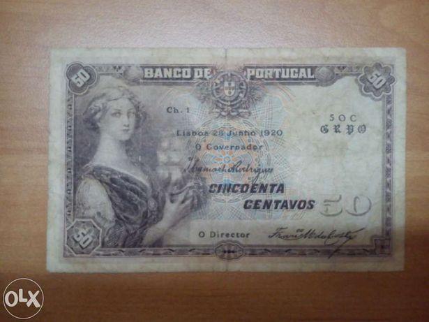 Nota 50 centavos 1920