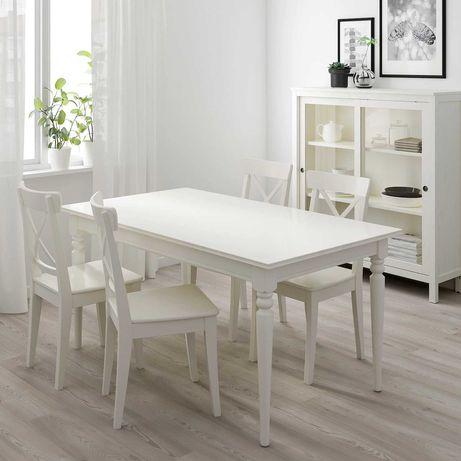 IKEA Ingatorp stół biały rozkładany duży