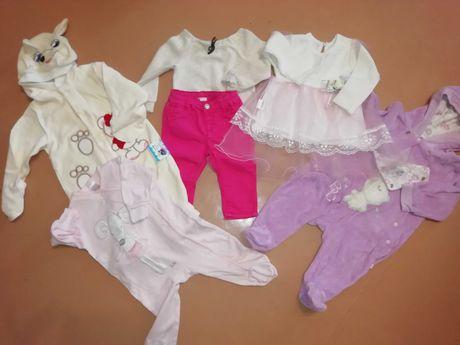 Набор, пакет вещей на девочку 3-6 месяцев, 62-68