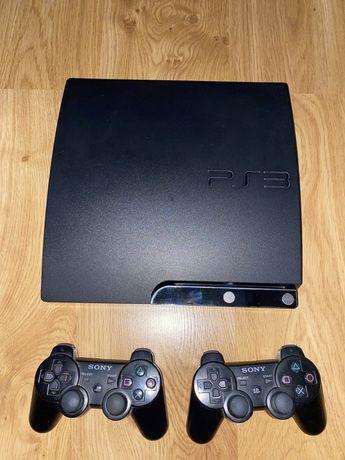 Konsola Playstation 3 Slim + 2 kontrolery + gry + okablowanie