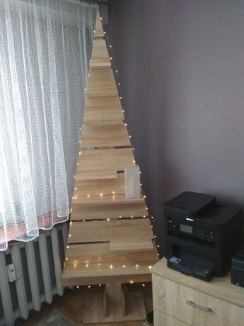 Półka drewniana choinka