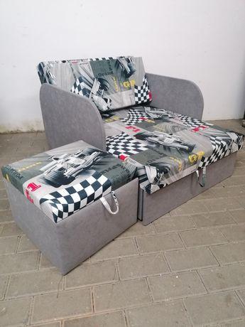 Fotelik sofka lozko dla dzieci z funkcją spania i pojemnikiem